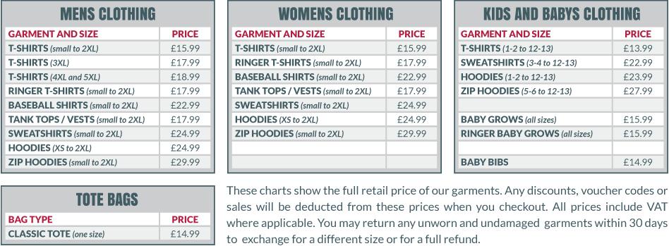 Price Guide